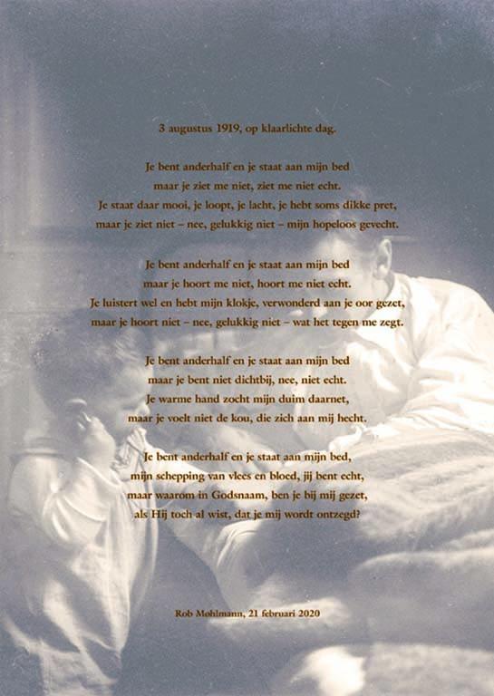 Gedicht Jan Mankes, laatste bladzij boek p120 © foto Rob Mohlmann