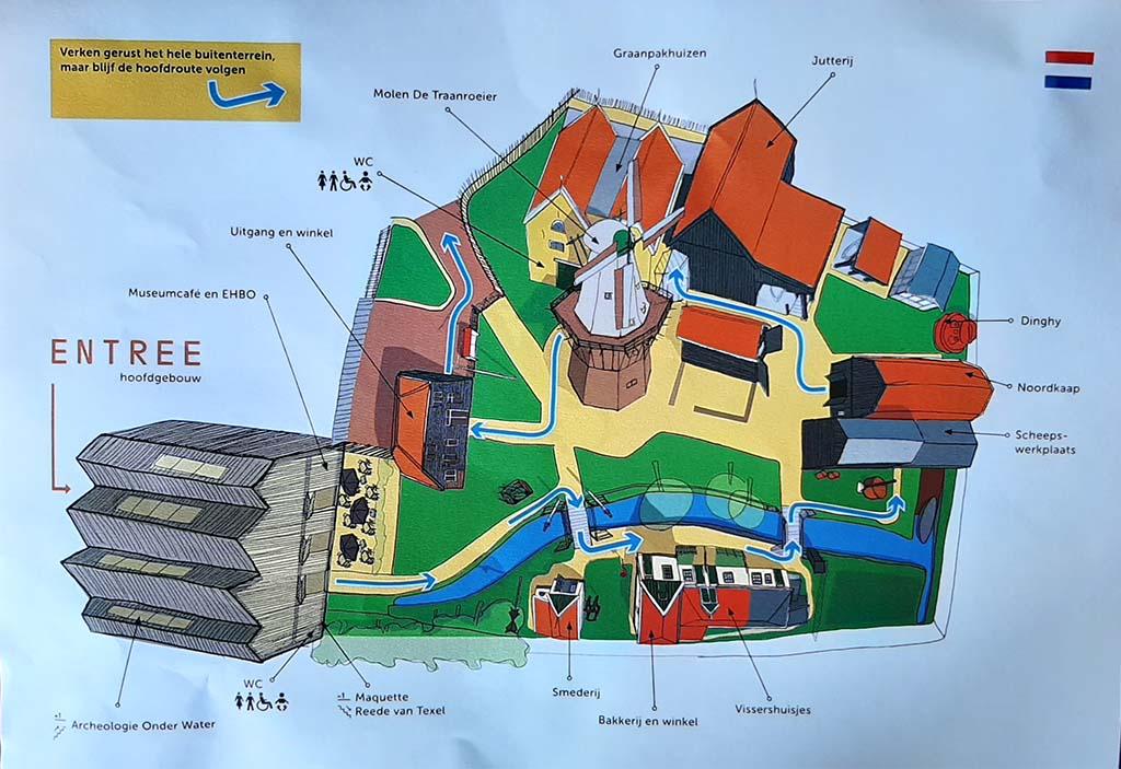 Kunstronde over Texel plattegrond Museum Kaap Skil
