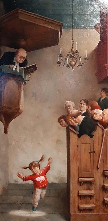 Marius_van_Dokkum_Dansje in de kerk (2005) © foto Wilma_Lankhorst