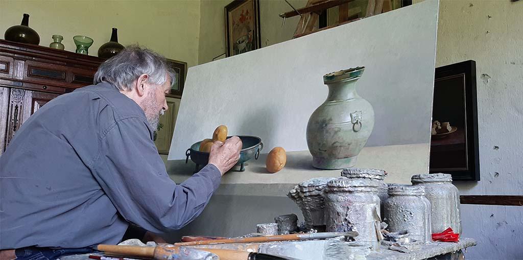 Henk Helmantel_in zijn atelier © foto Wilma_Lankhorst