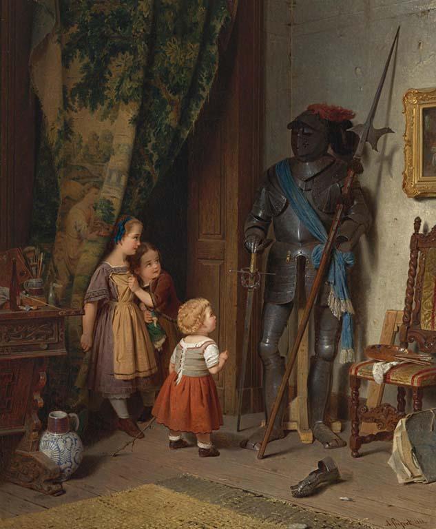 Koekkoek-Haus AF_Siegert_Kinder im Atelier (186 3) Roentgen_Museum Neuwied