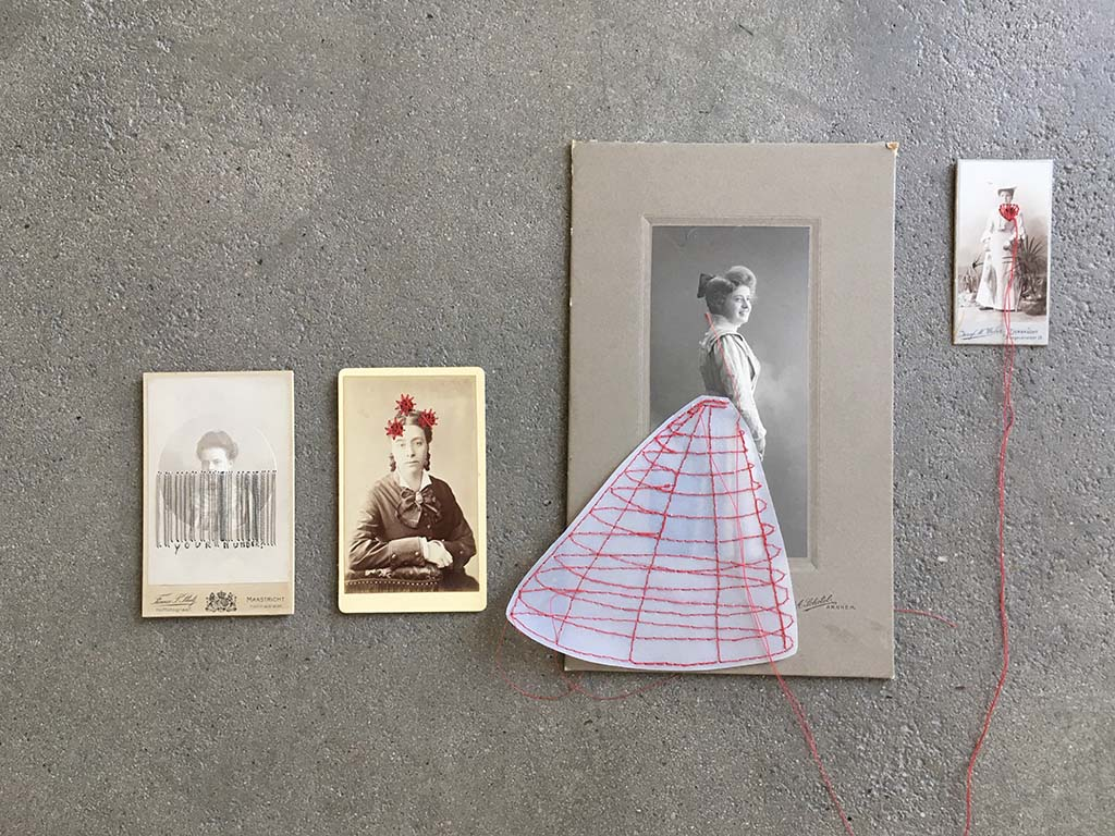 Marjolein Burbank Vintage foto's (CabinetCard) geborduurd