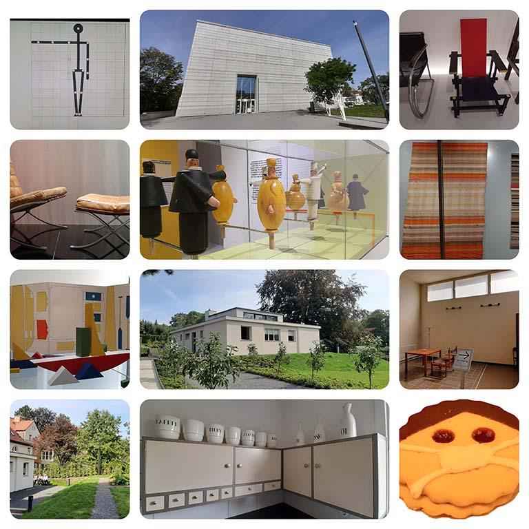 Weimar_collage Bauhaus Museum en Bauhaus_Haus am Horn 2020 © foto Wilma_Lankhorst