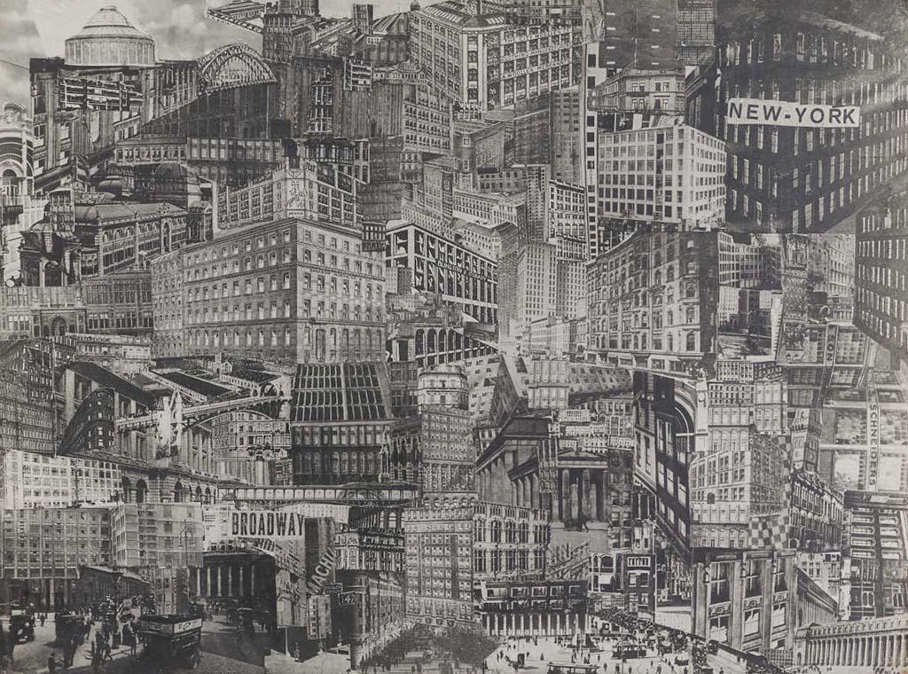 Nieuwe Kaders Grossstadt collage (1920) © Paul Citroen Coll. Kunstmuseum, Den-Haag