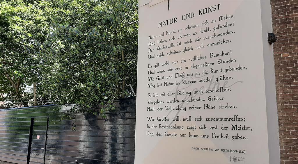 Muurgedichten Leiden_Goethe_Natur und Kunst © foto Wilma_Lankhorst