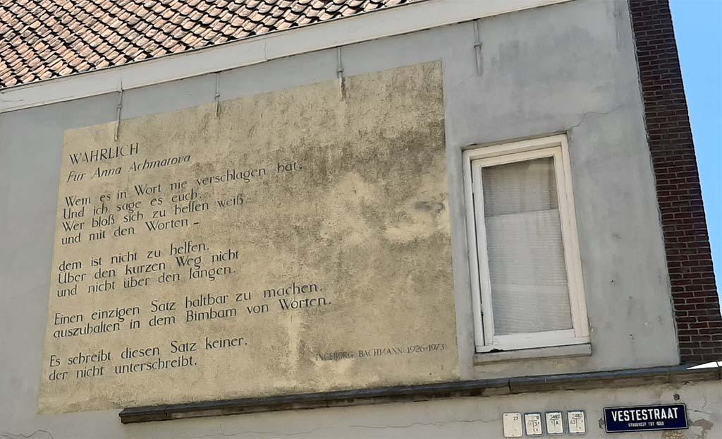 Muurgedichten_Leiden_Wahrlich_Ingeborg_Bachmann_ © foto Wilma_Lankhorst