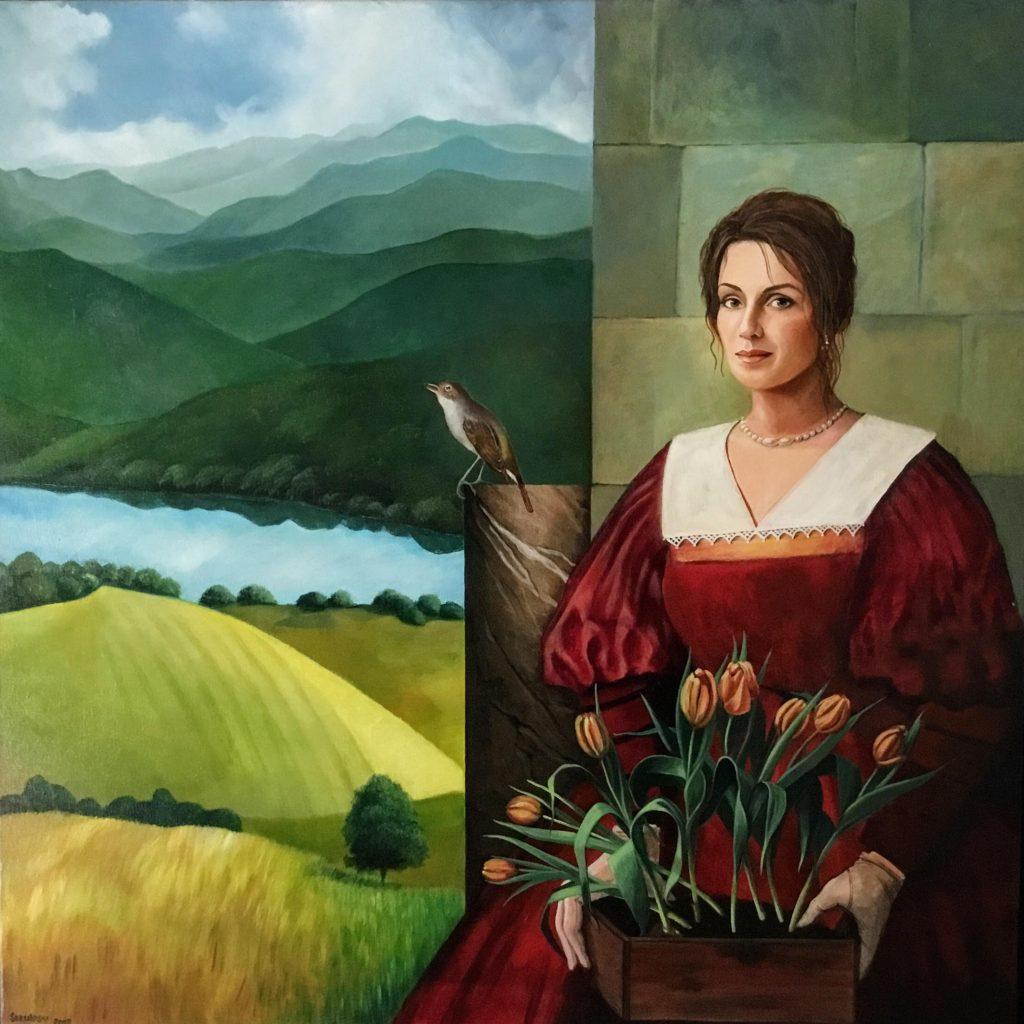 Slavica Sekuloski Nostalgia (2007) zelfportret olieverf op doek @Slavica_Sekuloski