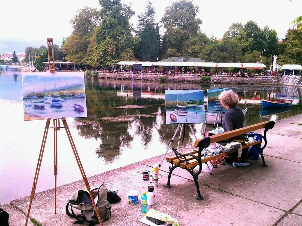 Slavica Sekuloski schilderles in Ohrid © Slavica Sekuloski