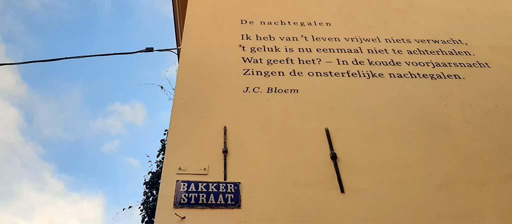 muurpoezie_Zutphen_JC Bloem de nachtegaal © foto Wilma_Lankhorst
