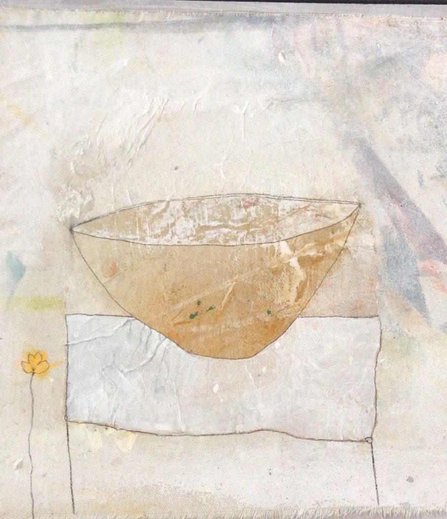 Kunstenaar in coronatijd Los dos materiales, que format mi canto (2020)© Monique Wolbert.
