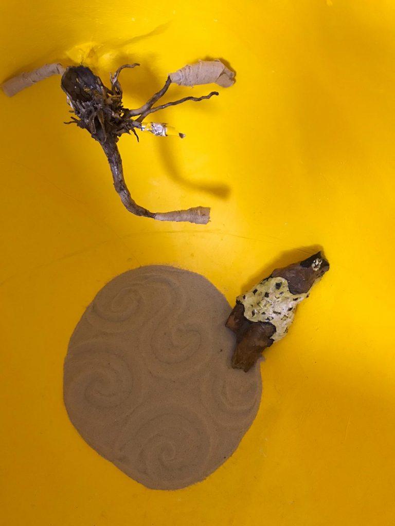 Kunstenaar-in-coronatijd Monique Wolbert, object Bubble (2020) binnenzijde, doorsnede 40 cm