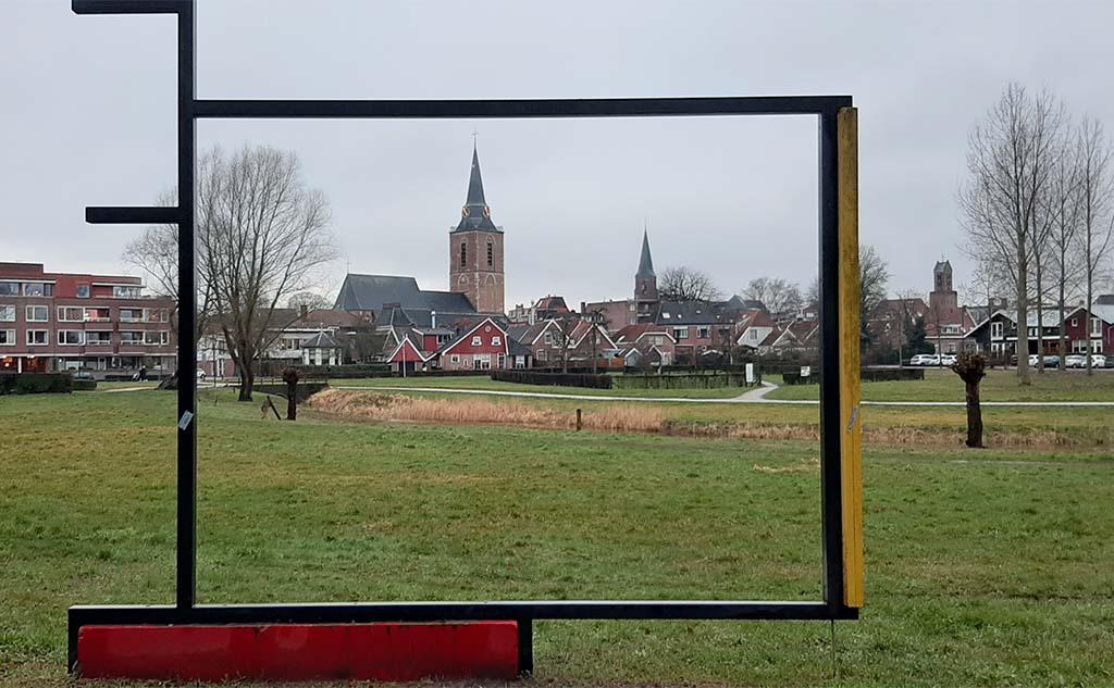 Winterswijk schilderijlijst in het park © foto Wilma Lankhorst