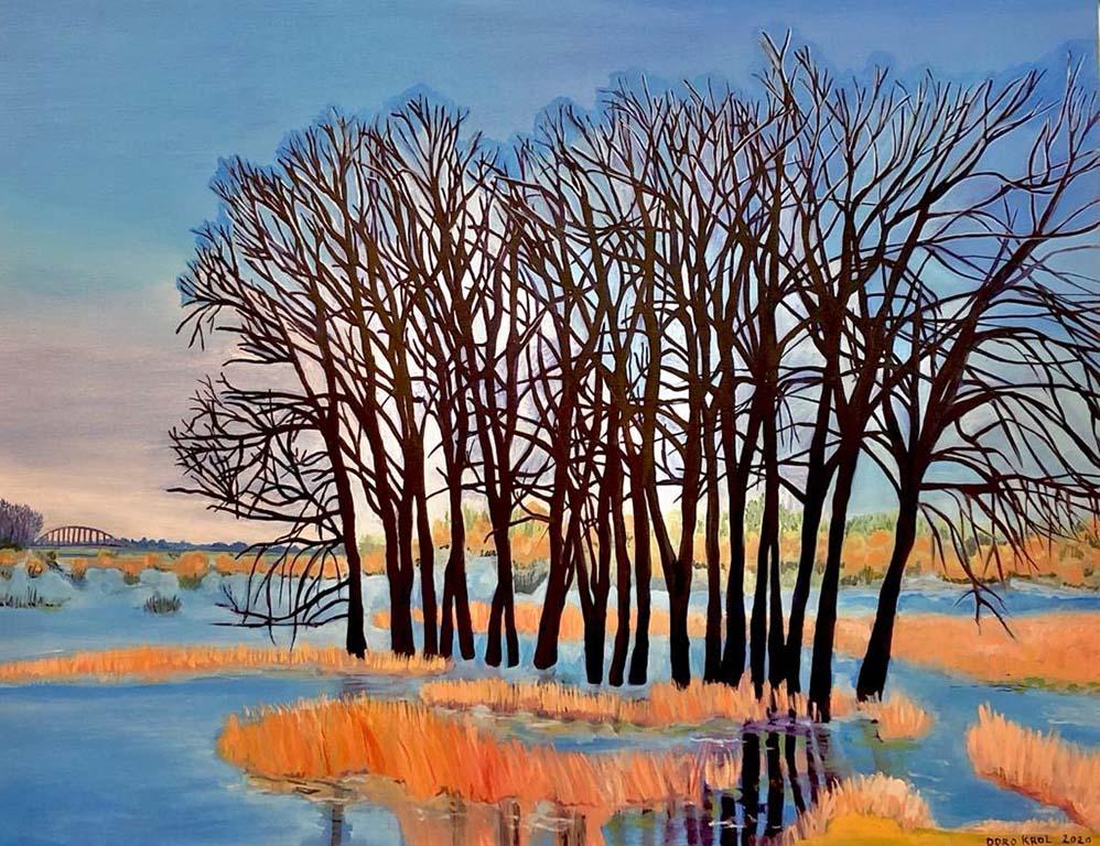 Doro Krol Populieren in het water (2020) 1 m x70cm © Doro Krol