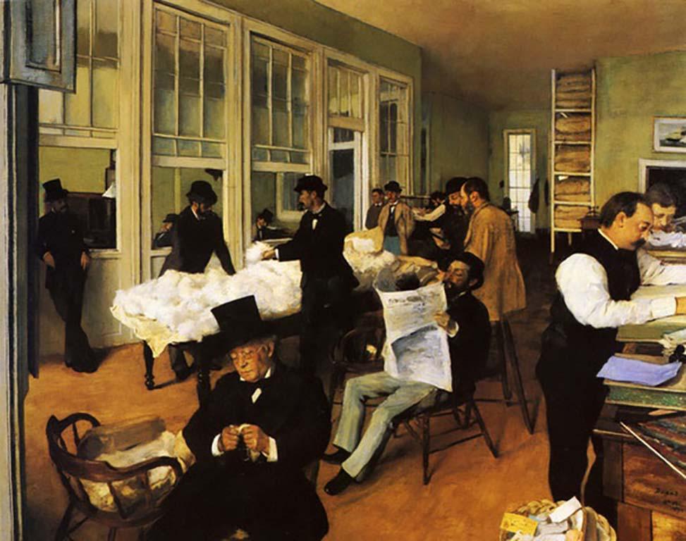 Mrs.Degas a Cotton Office New Orleans © Edgar Degas Collectie Musée des beaux Art Pau.