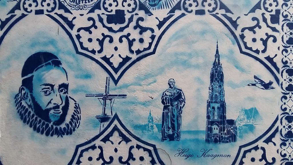 Street art Delft Bonte Ossteeg @Hugo Kaagman foto Wi