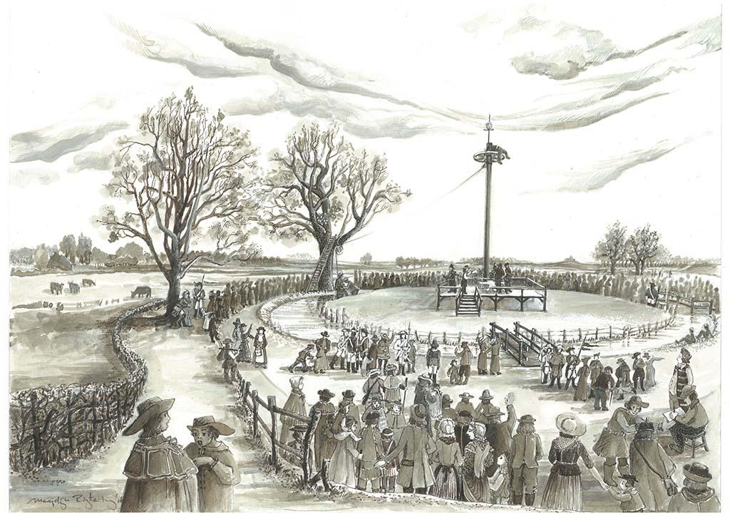 Marjolijn Rigtering te rechtstelling in Millingen aan de Rijn 1801 (2020) © Marjolijn_Rigtering