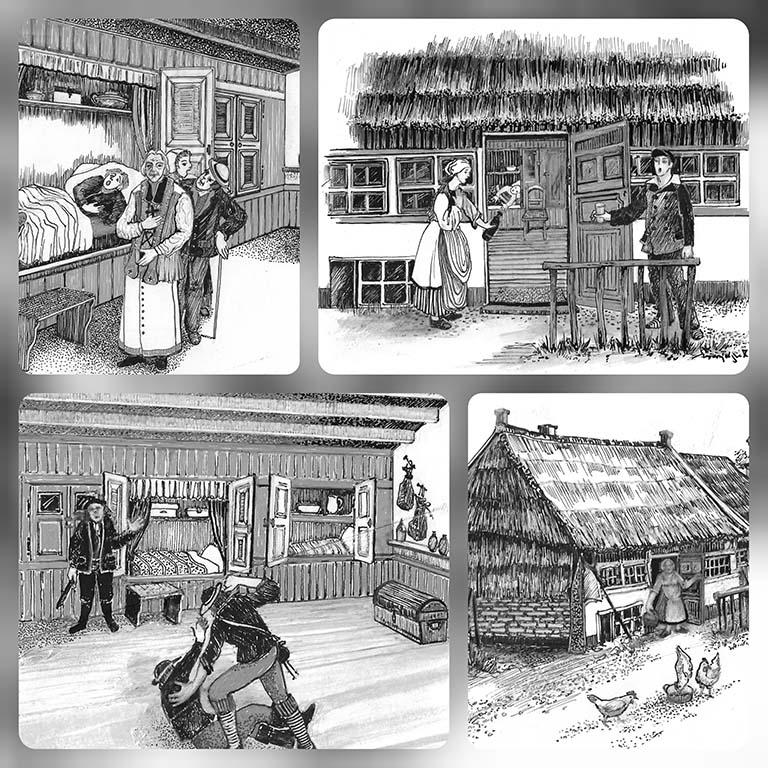 Marjolijn Rigtering serie gewassen tekeningen_Moord in De Delder 1767 (2020 ©_Marjolijn_Rigtering