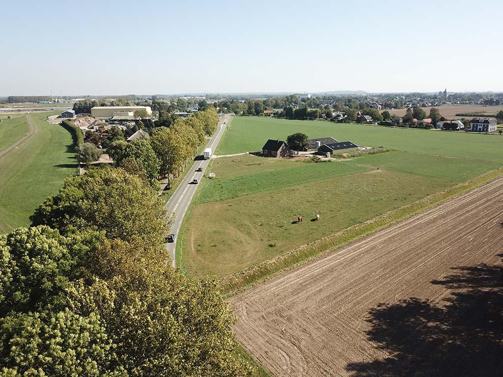 Millingen aan de Rijn locatie terechtstelling 1776, drone opname 2020