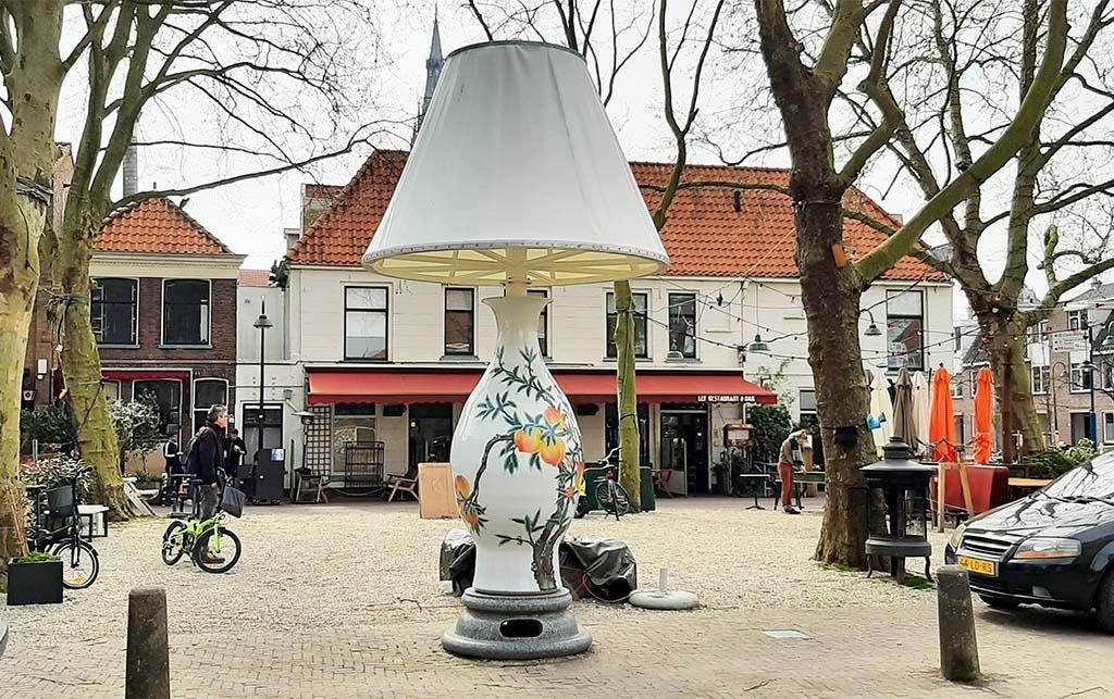 Street_art_Delft A National Treasure (2013) Doelenplein © Wan Liya (1963) © foto Wilma_Lankhorst