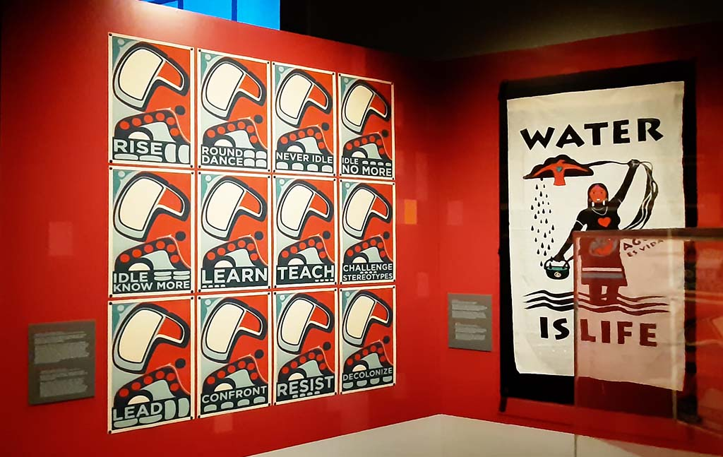 First Americans There is Hope if We Rise (2014) © Sonny-Assu (1975) Ligwildo xw _ Kwakwaka-wakw Nations © foto Wilma_Lankhorst