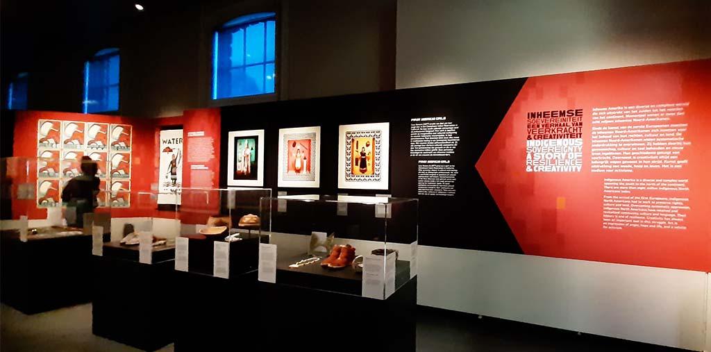 First Americans sfeerbeeld van de tentoonstelling © foto Wilma_Lankhorst