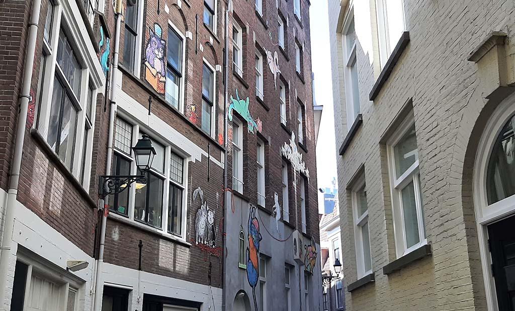 Den Haag Achterom_Kattensteeg street art_sfeerbeeld © foto Wilma_Lankhorst