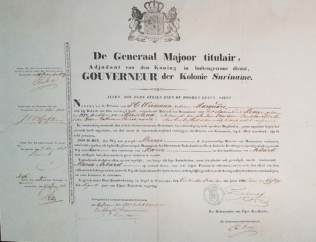 Slavernijverleden Document vrijstelling © foto Wilma_Lankhorst