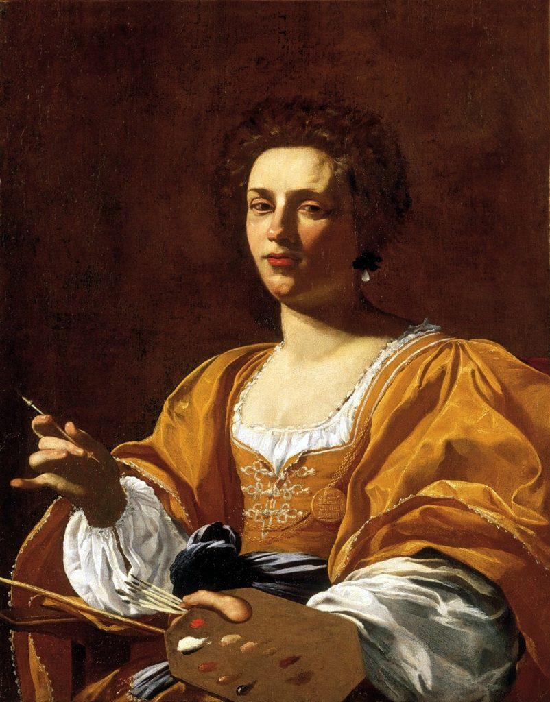 Artemisia Gentileschi (1623-1626) portret geschilderd door Simon Vouet.