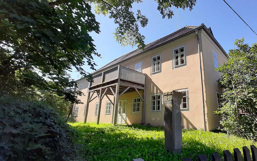 Moritzburg Käthe_Kollwitz_Haus balkon waarop Käthe graag zat © foto Wilma_Lankhorst